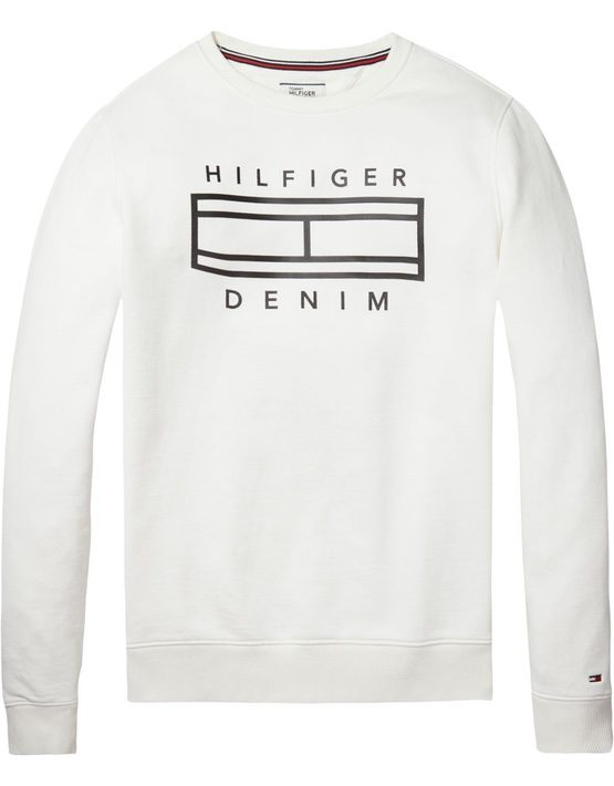Hilfiger Denim - CN Sweat white | GATE 36 HOBRO