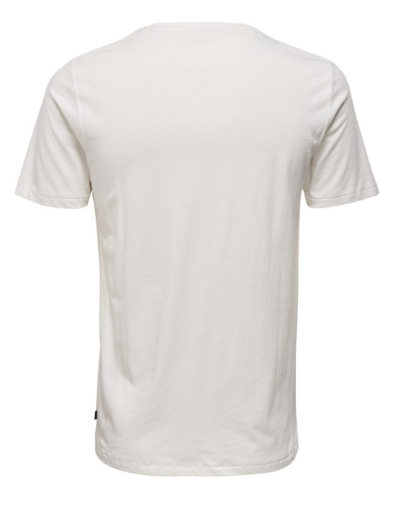 Only & Sons - Heine SS Fitted Tee White   Gate 36 Hobro