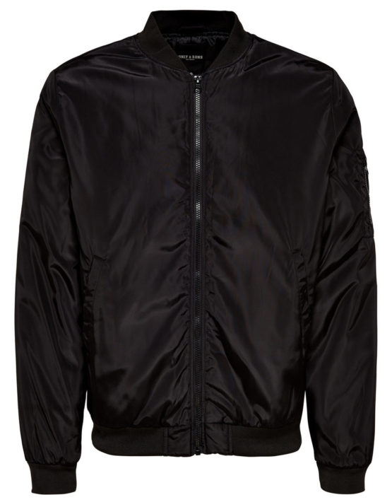 22007269 Only & Sons Jacket - Camp Normal Bomber Black | GATE 36 HOBRO