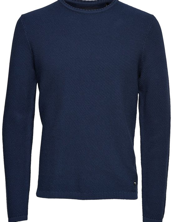 Only & Sons Strik - Dan Structure Dress Blue | Gate 36 Hobro