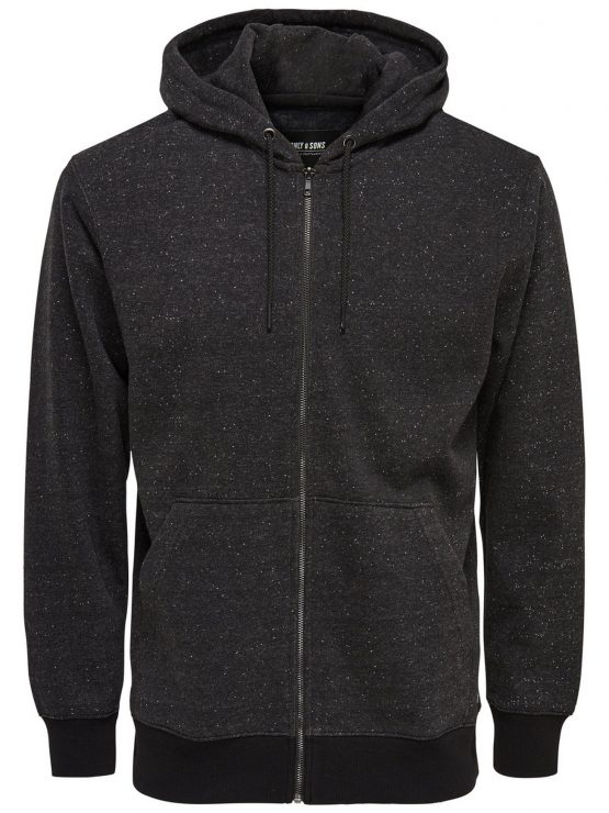 Only & Sons - Fiske Zip Dark Grey | Gate 36 Hobro