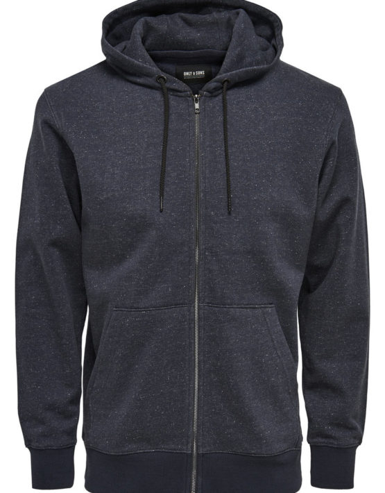 Only & Sons - Fiske Zip Dark Navy | Gate 36 Hobro
