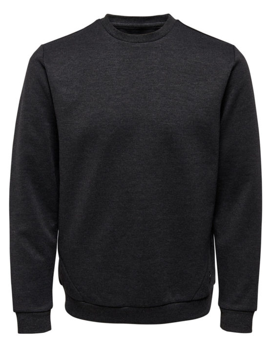 Only & Sons – Vinn Sweat Dark Grey | Gate 36 Hobro
