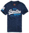 SUPERDRY T-SHIRT - Vintage Logo Duo Tee Snow Navy | Gate 36 Hobro