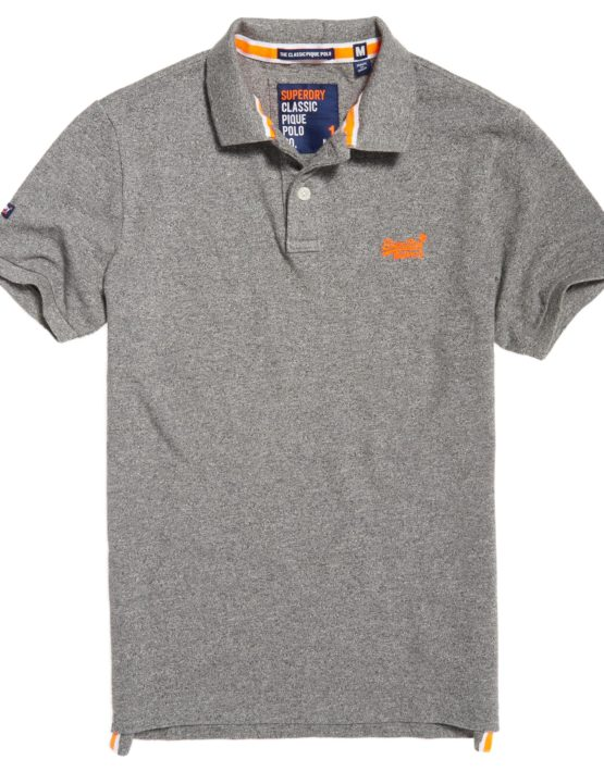 Superdry Polo - Classic Polo Mid Grey Grindle | Gate 36 Hobro