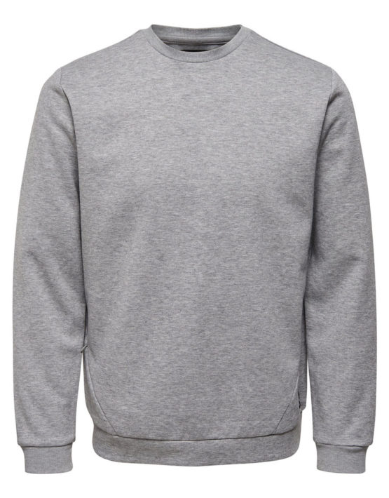 Only & Sons - Vinn Sweat Light Grey | Gate 36 Hobro