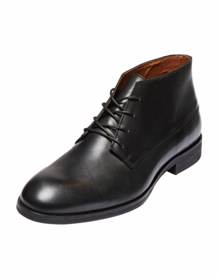 Selected Bolton Chukka Leather Boots – Black