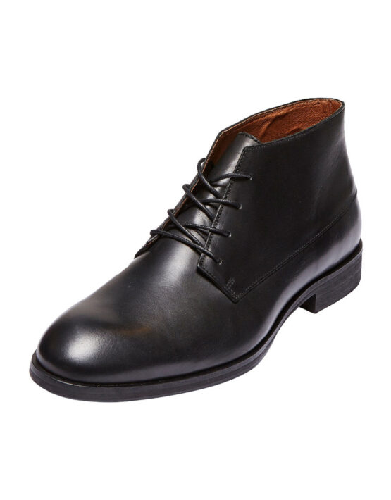 Selected Bolton Chukka Leather Boots - Black | Gate 36 Hobro