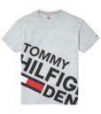 HILFIGER DENIM - LOGO TEE S/S GREY | Gate 36 Hobro
