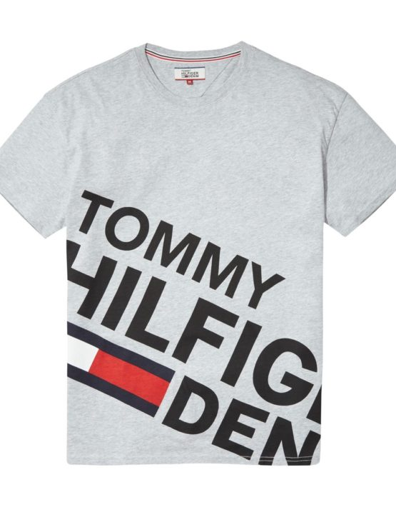 HILFIGER DENIM - LOGO TEE S/S GREY | Gate 36 Hobro