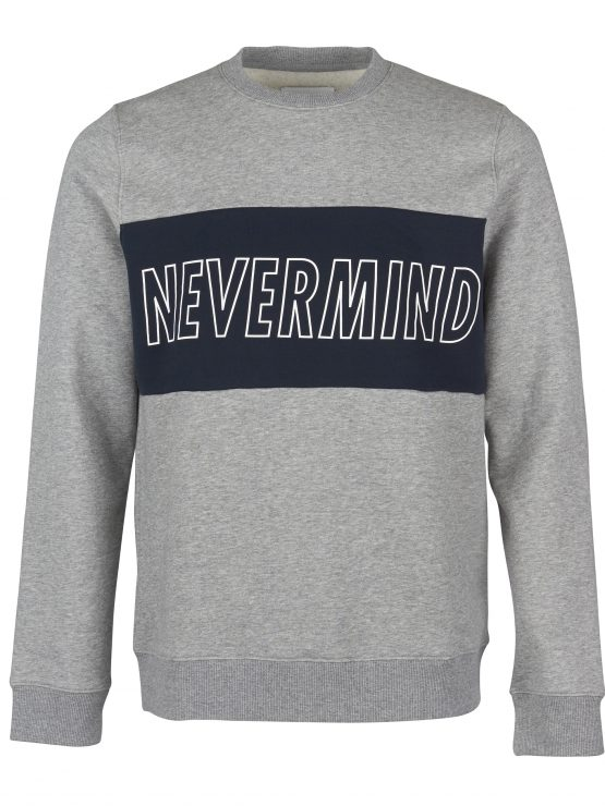 samsøe samsøe sweat nevermind o-n ls 6582 - grey mel | GATE 36 Hobro