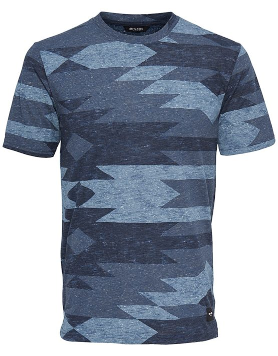 Only & Sons – Andre T-shirt Blue | GATE36 Hobro