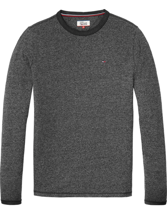 Tommy Jeans - Reg CN Knit L/S Dark Grey | Gate 36 Hobro