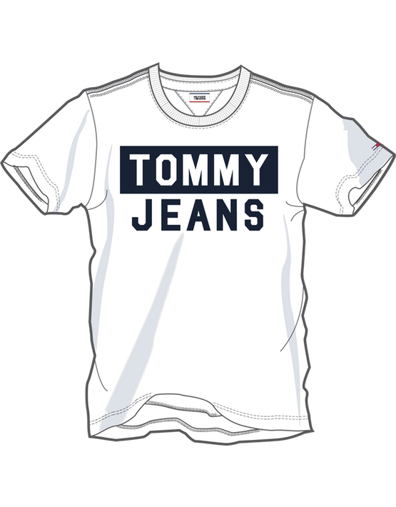 Tommy Jeans - CN TEE S/S WHITE | Gate 36 Hobro
