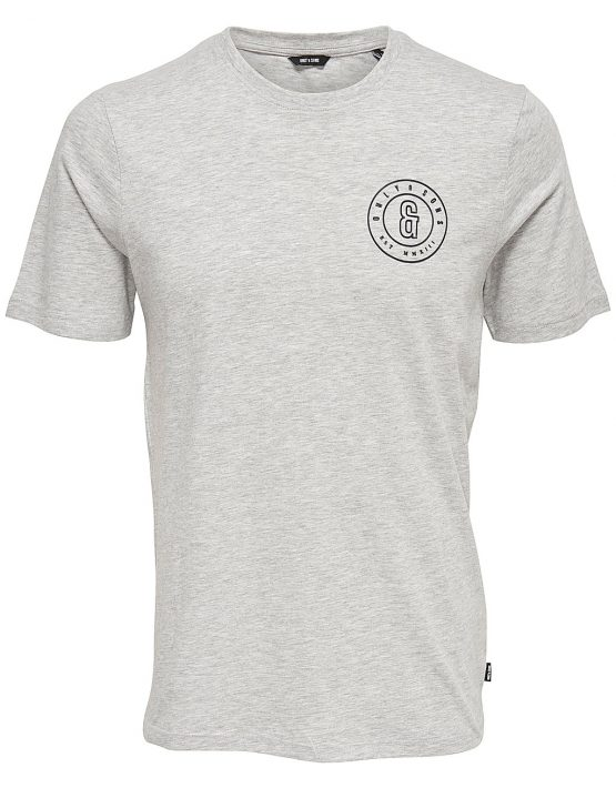 Only & Sons - Bobbi SS Slim Tee Grey | Gate 36 Hobro