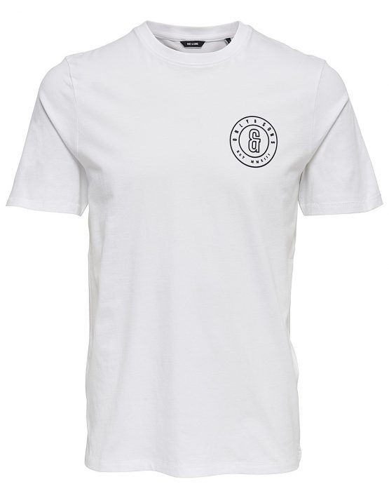 Only & Sons - Bobbi SS Slim Tee White | Gate 36 Hobro