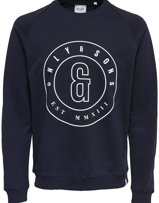 Only & Sons - FANA LOGO SWEAT NAVY | Gate 36 Hobro