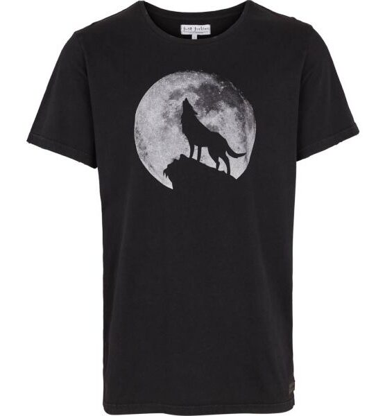 Just Junkies - Wolf Tee Black JJ517 | Gate 36 Hobro