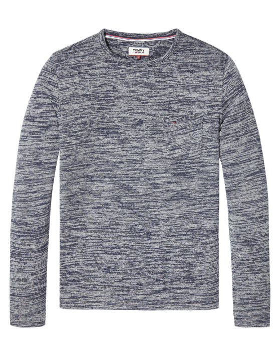 TJM Strik - SWT CN Knit L/S Blue