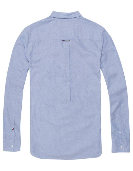 TJM - Detail Oxford Nautical Blue Skjorte | Gate 36 Hobro