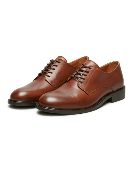 Selected Baxter Derby Leather Shoe - Brun | Gate 36 Hobro