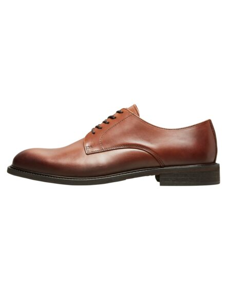 Selected Baxter Derby Leather Shoe – Brun