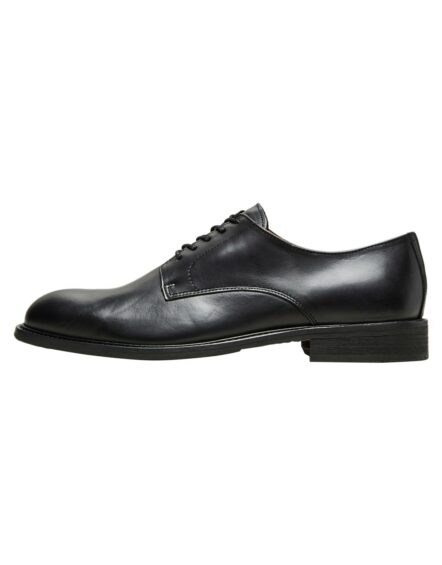 Selected Baxter Derby Leather Shoe – Black