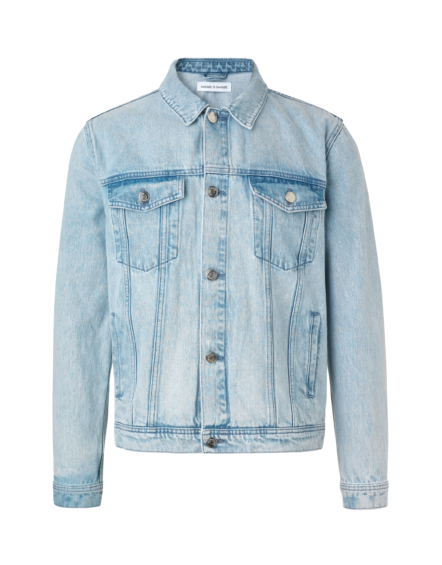 Samsøe Samsøe – Laust Denim Jacket Ice Blue