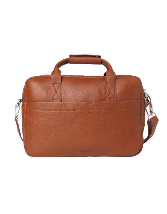 Samsøe Taske - MIRO BRIEFCASE SINGLE 3338 COGNAC | Gate 36 Hobro