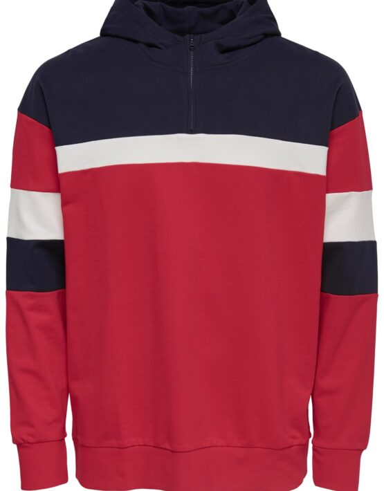 Only & Sons - Sweat Zip-Hoodie Racing Red | Gate 36 Hobro