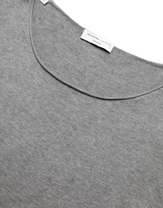 Selected - Dome Crew Medium Grey Mel | Gate 36 Hobro