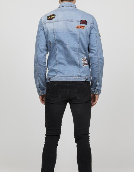 RVLT - Denim Jacket Light Blue Ripped | Gate 36 Hobro