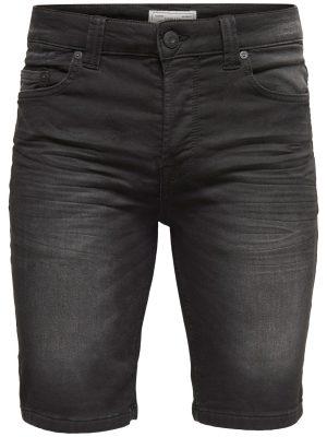 Only & Sons - Bull Shorts BLack Denim Jog | Gate 36 Hobro