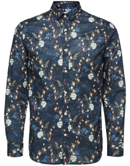 Selected Skjorte – Shxonekonradsson Shirt Navy