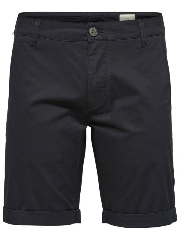 SELECTED - Ryan Straight Shorts Black | Gate 36 Hobro