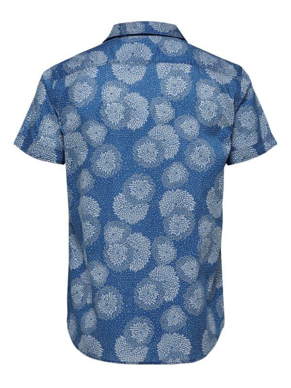 Selected Skjorte - Two Flash Shirt S/S Blue | Gate 36 Hobro
