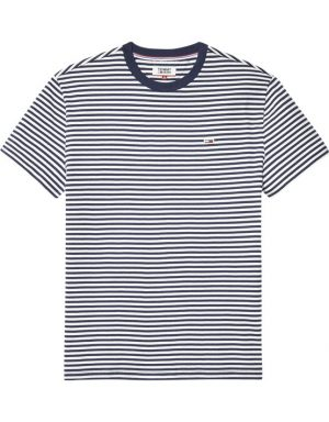TJM Clasic Tee Stripet White/Navy | Gate 36 Hobro