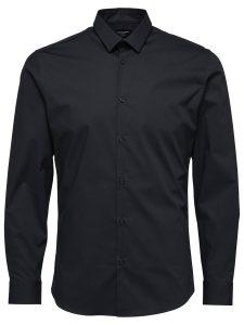 Selected Skjorte - Preston Black L/S Selected Skjorte - Preston Black L/S | Gate 36 Hobro