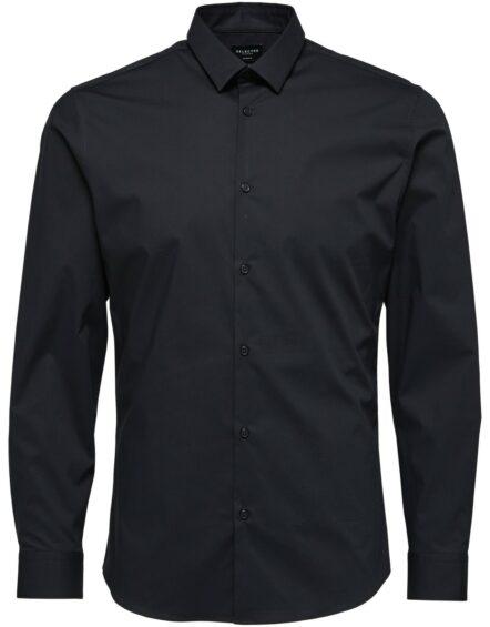 Selected Skjorte – Preston Black L/S