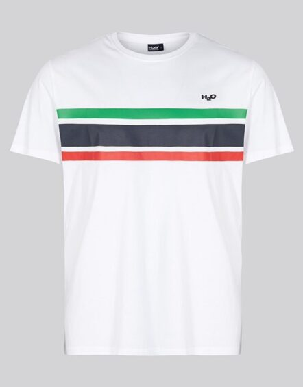 H2O Gilleleje Tee White/Green/Red/Navy