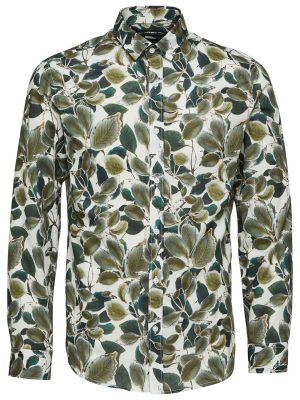 Selected - Evan Shirt AOP Green | Gate 36 Hobro