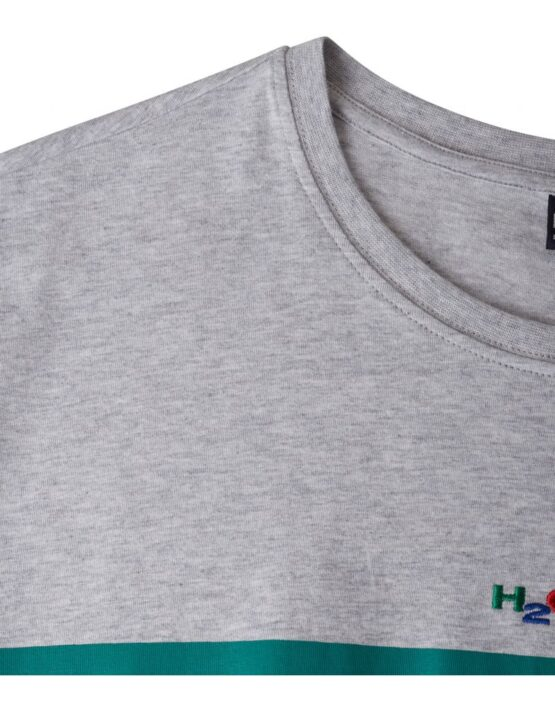 H2O Maine Tee Grey/Green/Navy | Gate 36 Hobro 9500