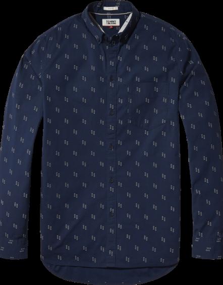 TJM – Disty Print Shirt Navy