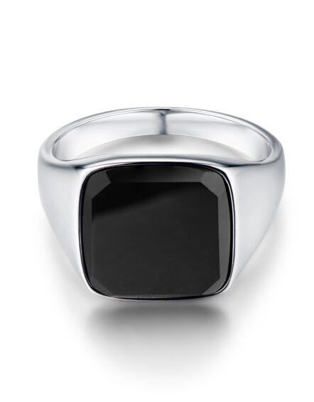 Onyx Signature Sliver Ring