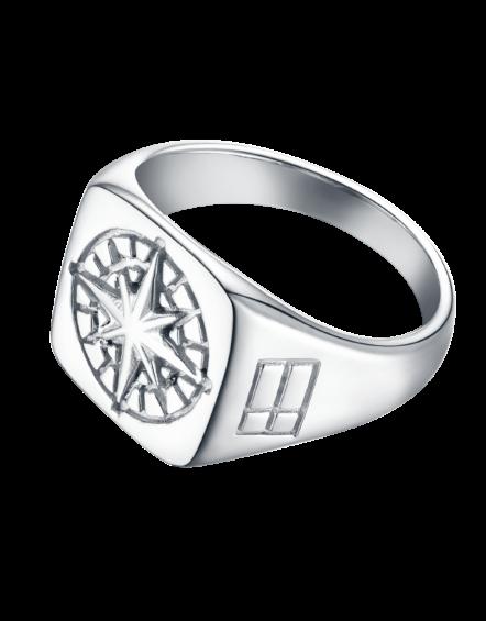 Compass Signature Sliver Ring | Gate 36 Hobro 9500