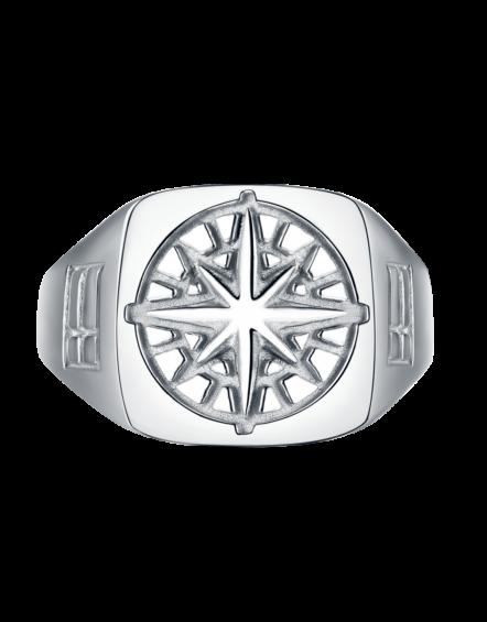 Compass Signature Sliver Ring