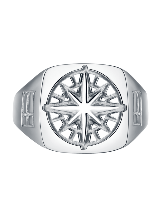 Compass Signature Sliver Ring | Gate 36 Hobro 9500