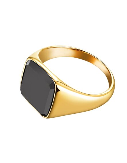 Onyx Signature Guld Ring