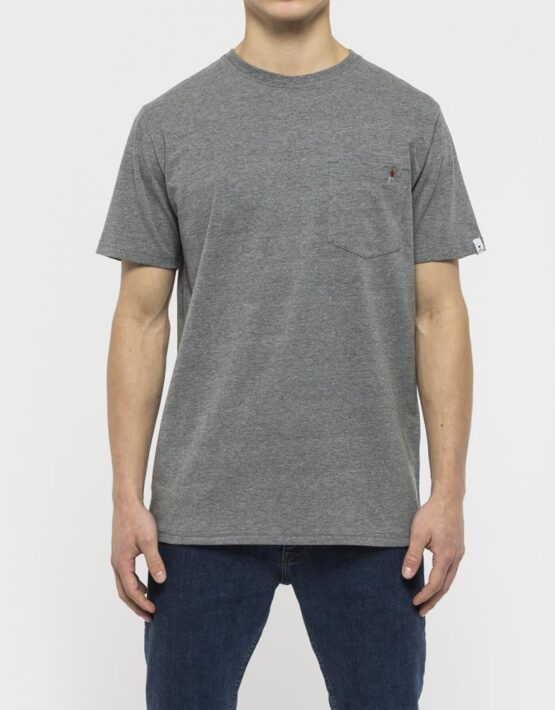 RVLT T-Shirt - 1954 Sverre Printed Tee Grey Hang Man | Gate 36 9500 Hobro