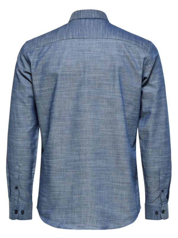 Selected Skjorte - Slim Kris Grey Melange | Gate 36 Hobro 9500